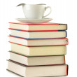 Composition with books on the table — Stock Photo #7605315