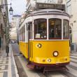 Royalty-Free Stock Photo: Yellow Lisbon tram 28