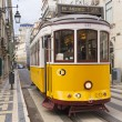 Yellow Lisbon tram 28 — Stock Photo #7377033