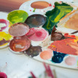 Paint palates — Stock Photo