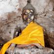Ancient buddha statue in yala cave temple, thailand — Photo
