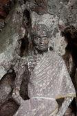 Antigua estatua de buda en el templo de la cueva de yala, tailandia — Foto de Stock