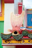 Pierre poisson rouge chinois envie au temple chinois — Photo