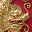 Stock Photo: Chinese dragon stone craving in chinese temple
