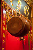 Big drum in chinese temple — Stock Photo