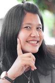 Asiatische thai attraktive frauen schreiben — Stockfoto