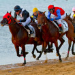 Horse race on Sanlucar of Barrameda, Spain, August 2011 — Stock Photo #7274365