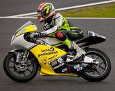 Mattia Tarozzi pilot of 125cc in the CEV — Stock Photo