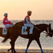 Horse race on Sanlucar of Barrameda, Spain, August 2011 — Stock Photo #7286400