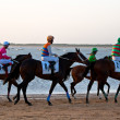 Horse race on Sanlucar of Barrameda, Spain, August 2011 — Stock Photo #7286404