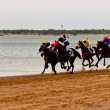 Horse race on Sanlucar of Barrameda, Spain, August 2011 — Stock Photo #7286412