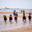 Horse race on Sanlucar of Barrameda, Spain, August  2010 — Stockfoto