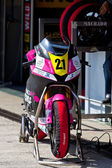 Ivan Moreno pilot of Moto2 of the CEV Championship — Stock Photo