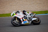 Roman Ramos pilot of MOTO2 in the CEV — Stock Photo