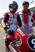 Cev スペイン選手権選手権 125 cc クラスの森しゅんやパイロット — ストック写真