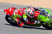 Juanfran Guevara pilot of 125cc of the CEV Championship — Stock Photo