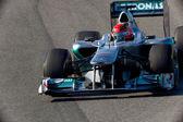 Team Mercedes F1, Michael Schumacher, 2011 — Stock Photo