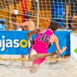 Stock Photo: Match of 19th league of beach handball, Cadiz