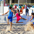 Match of the 19th league of beach handball, Cadiz — Стоковая фотография