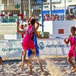 Match of the 19th league of beach handball, Cadiz — Foto de Stock