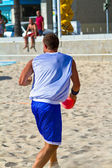 Match de la 19e Ligue de handball de plage, cadiz — Photo
