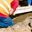Curbs installation — Stock Photo