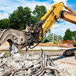 Stock Photo: Concrete Crusher at work