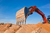 采石反铲挖砂 — 图库照片
