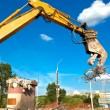 Hydraulic Concrete Crusher at Site Demolition — Stock Photo #7668094