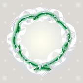 Framework a gentle fir-tree wreath — Stock Vector