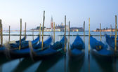 Venice gondolas at sunrise — Stock Photo