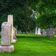 Royalty-Free Stock Photo: HDR of a Cemetery