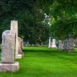 Stock Photo: HDR of a Cemetery