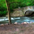 River Bridge HDR landscape — Stock Photo
