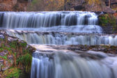 Colorful scenic waterfall in HDR — Stock Photo