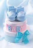 Little baby booties — Stock Photo