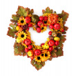 Autumn heart wreath — Stock Photo #6944983