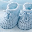 Blue baby booties — Stock Photo #7027752