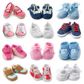 Baby shoes collection — Stok fotoğraf