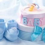 Little baby booties — Stock Photo