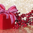 Christmas gift box — Stock Photo