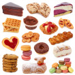 Sweet cakes collection — Stock Photo