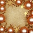 Abstract christmas golden background — Stock Photo