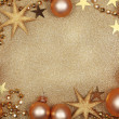 Abstract christmas golden background — ストック写真