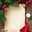 Stock Photo: Letter for santa