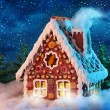 Homemade gingerbread house — Stock Photo #7596140