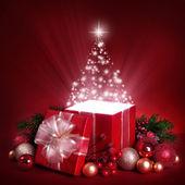 Open magic gift box — Stock Photo