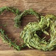 Two green hearts - Stock Photo