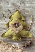 árvore de natal de tecido — Fotografia Stock