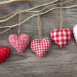 Red hearts — Stock Photo #7693925
